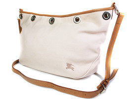 Auth Burberry London Blue Label Canvas Leather Pink Cross-Body Shoulder Bag - $139.00