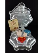 Vintage 1977 Wilton Superman & Batman 2 Torta Pentole 35.6cm - $18.81