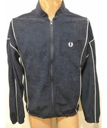 Fred Perry Sportswear Mens M Navy Blue White Trim Cotton Warm-Up Track J... - $63.21