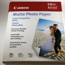 "Canon Matte photo paper 50 sheets 8.5"" X 11"" Premium Quality New sealed  - $8.31"