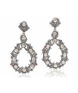 2.77Ct Rose Cut Diamond Polki Silver Dazzling Victorian Inspired Earring... - $643.22