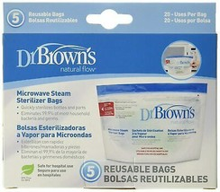 Dr. Brown's Microwave Steam Sterilizer Bags (Reusable Bottle Sterilizer) - $8.98