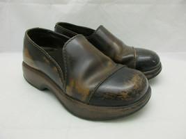 Dansko Brown Leather Clogs Shoes Women's Size 36 EU  - $22.98
