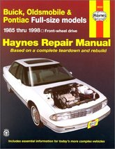 Buick, Olds & Pontiac Full-Size Fwd Models Automotive Repair Manual: 198... - $5.80