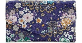 Steve Madden Global Patent Small Envelope Clutch Crossbody Bag, Blue Floral - $33.00