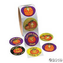 Shine with Jesus Halloween Christian Pumpkin Stickers  - $3.24