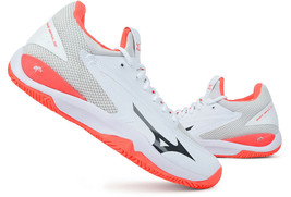 Mizuno Wave Impulse CC Men's Tennis Shoes for All Court White Pink 61GC195108 - $120.51