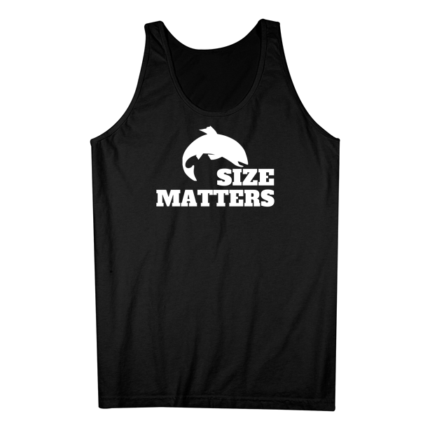 Funny Quotes About Size Matters: Size Matters Fishing Funny Fishing Tank Top