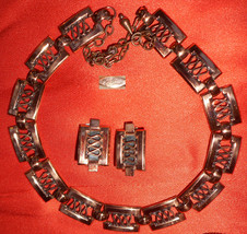 RENOIR Copper Choker Necklace & Clip Earrings! - $24.75