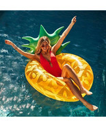 Big Yellow Inflatable Pineapple Swimming Laps Ring Floating Pool Party T... - $18.69