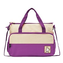 SoHo diaper bag Lavender 8 pieces nappy tote bag unisex for baby mom dad... - $29.72