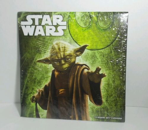 Star Wars Date Works 2017 12 months Calendar Still in Wrapping Ships from USA
