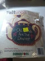 Dimensions Applique Feltworks Dear Friends Teapot Kit Brand New NIP 6202... - $12.90
