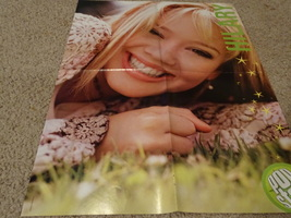 Hilary Duff Good Charlotte teen magazine poster clipping laying in the grass Bop