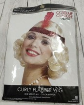 Curly Flapper Wig Blonde Costume Culture By Franco halloween dress up cosplay - $16.44