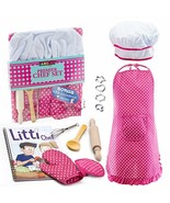 JaxoJoy Complete Kids Cooking and Baking Set - 11 Pcs Includes Apron for... - $17.23