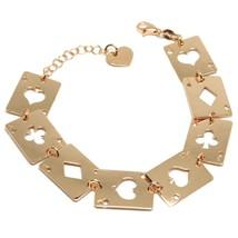 Bracelet en Argent 925,Jeu de Cartes,Fleurs,Carreaux,Cœurs,Pique ,le Favole - $104.83