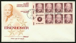 #1395d 8c Eisenhower-Mail Frühe, Fleetwood FDC Any 4 = - $1.49