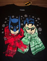 Batman And Robin Dc Comics Winter Christmas T-Shirt 2XL Xxl New w/ Tag - $19.80