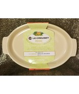 """New Le Creuset 14"""" Oval Baking Dish in Pale Yellow Beige Casserole Augra... - $54.44"""