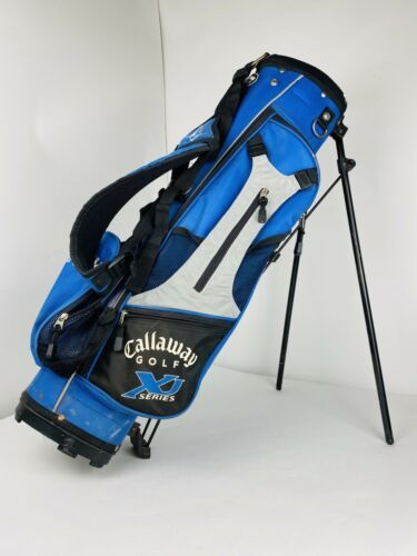 Primary image for Callaway XJ Series Youth Kids Carry Golf Bag Dual Strap Harness Stand Blue Grey