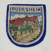 RUDESHEIM a./Rhein Germany City Herald Coat of Arms Travel Souvenir Felt... - $6.99
