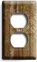 Rustic Wood Tree Of Life Antique Design Outlet Wall Plate Covers Room Home Decor - $8.99