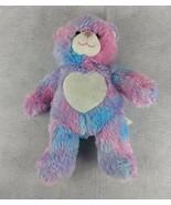 Build a Bear Pink Blue Purple Teddy Bear with Heart Stuffed Animal Plush... - $21.87
