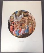 Fra Angelico Fra Filippo Lippi 'Adoration of the Magi' Lithograph Shorew... - $33.15