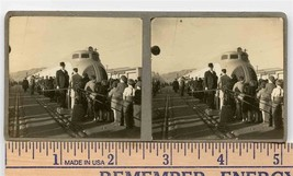 Crowd Visiting New Union Pacific Railroad's M-10000 Original Stereoview ... - $84.06