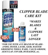 ANDIS CLIPPER BLADE CARE PLUS COOL SPRAY&OIL Lubricant SET-Clean,Cool,Di... - $19.99