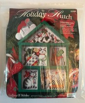 Vintage Bucilla Holiday Hutch  ~ Christmas Cats Cross Stitch ~ New in Package - $18.53