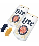 NEW Cornhole Game Beer Can 2-Boards 4-Yel/Blue Bean Bags Outdoor Tailgat... - $134.99