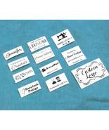 50x Custom clothes logo name label iron on tag fabric garment Personaliz... - $7.81
