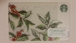 Starbucks Gift Card - NEW - BRAILLE COFFEE BERRIES & BRANCHES 2016 - $1.19