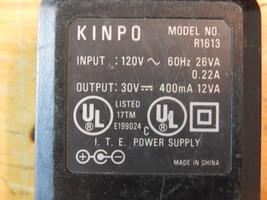 Kinpo R1613 ACAdapter 30vdc 400ma .4a HP 600 & Apollo - $8.90