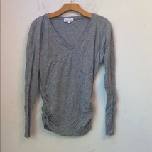 Michael stars solid gray long sleeve top - $25.74