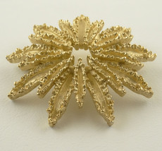 Vintage Avon Gold Starburst Flower Brooch Pin, Gold Brooch, Starburst Pin - $24.88
