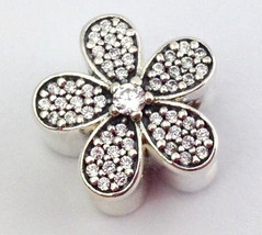 Authentic Pandora Dazzling Daisy Sterling Silver Bead Charm 791480CZ New - $65.54
