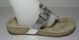 Michael Kors Size 8 M GRAND PRIX Silver Leather Sandals New Womens Shoes - $117.81