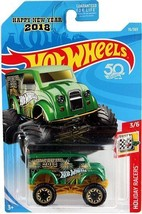 2018 Hot Wheels Holiday Racers Green Monster Dairy Delivery ~ New In Pac... - $5.45