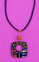 Gustav Klimt Art Pendant from wood handmade acrylic painting Jewelry Gift - $17.95