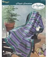 Indigo Waves Ripple Sensations Afghan, Crochet Pattern Leaflet TNS 942070 - $2.95