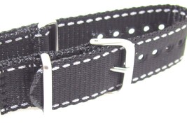 HADLEY ROMA MS4220 MILITARY NYLONE ZULU QUALITY WATERPROOF WATCH BAND 22... - $13.69