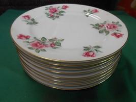 "Outstanding NORITAKE ""Linda"" Gold Trim Dinnerware  8 BREAD-SALAD-DESSERT... - $30.90"