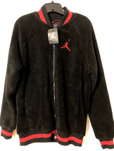 NIKE AIR JORDAN SHEARLING AJ1 FLEECE JACKET BRED SIZE M NEW W/TAGS (AH97... - $99.55