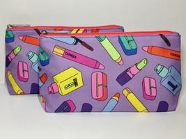 2pc Clinique Makeup Bags Chubby Stick & Lotion Bottle Pattern (purple,pink) - $7.98