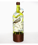Large Yellow Recycled Wine Bottle Decorated Gif... - $24.00