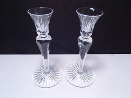 """Pair Lenox Crystal Candle Sticks ~~~ gorgeous ~ signed ~~ 7 1/2"""" - $19.95"""