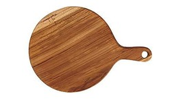 Loyal Adams Teak Sono Kitchen Round Wooden Handle Chopping Serving Cutting Bread